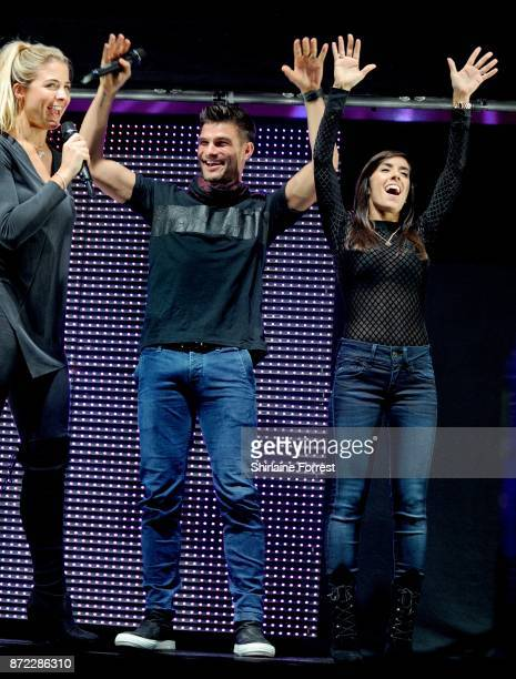 Gemma Atkinson hosts with Strictly Come Dancing partner Aljaz Skorjanec and Janette Manrara at Key 103 Live at Manchester Arena on November 9 2017 in...
