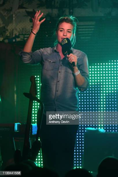 Gemma Atkinson introduces Tom Walker at the Deaf Institute for Hits Radio on March 02 2019 in Manchester England