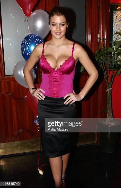 Gemma Atkinson makes a guest appearance in Citi Bar on February 1 2008 in Dublin Ireland