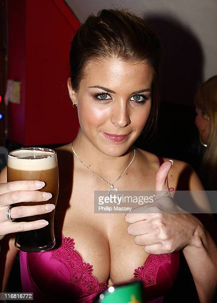 Gemma Atkinson makes a guest appearance in Citi Bar on February 1 2008 in Dublin Ireland
