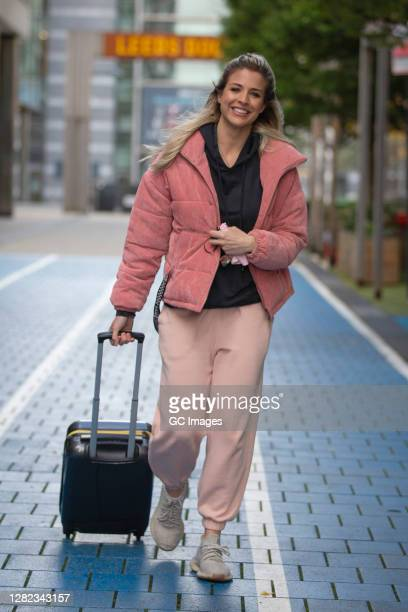 Gemma Atkinson seen departing Leeds Dock after filming Channel 4's 'Steph's Packed Lunch' on October 26 2020 in Leeds England