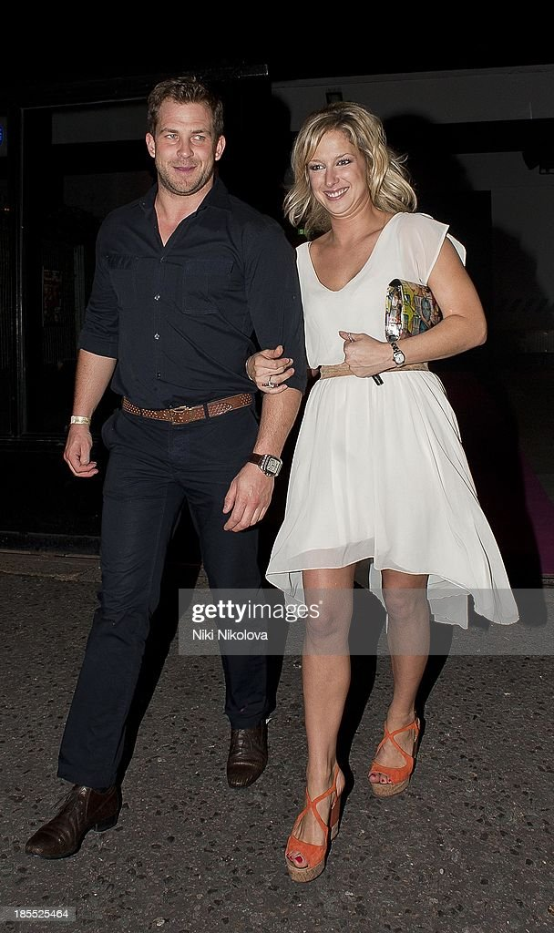 Gemma Bissix is sighted leaving the Minestry of Sound, Elephant and Castle on October 21, 2013 in London, England.