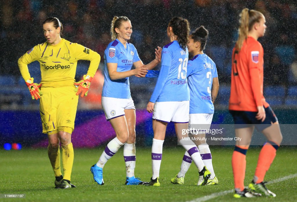 Manchester City v Everton - Barclays FA Women's Super League : Fotografia de notícias