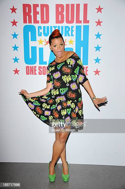 Gemma Cairney arrives at the Red Bull Culture Clash at Wembley Arena on November 7 2012 in London England