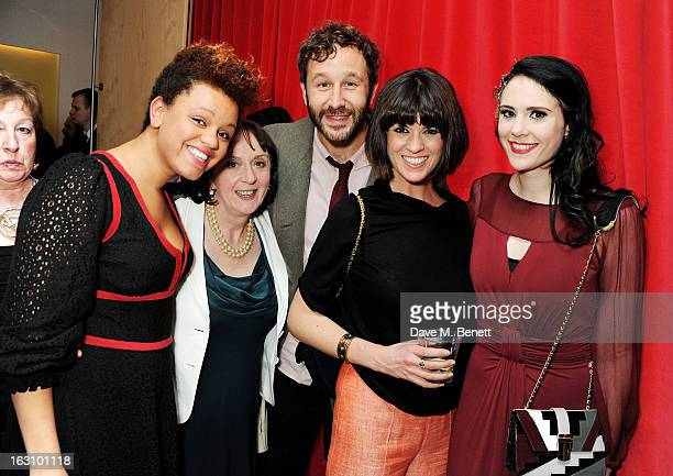 Gemma Cairney Marie Nash Chris O'Dowd Dawn Porter and Kate Nash attend the launch of Kate Nash's new album 'Girl Talk' at St Martin's Lane Hotel on...