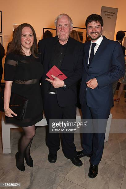 Gemma Cawley curator Terence Pepper and Luca Dotti attend a private view of new exhibition Audrey Hepburn Portraits Of An Icon at the National...