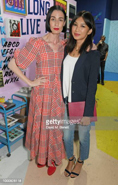 Gemma Chan and Erin O'Connor attend the launch of Bombay Sapphire's 'Canvas' a destination designed to stir creativity and inspire creative...