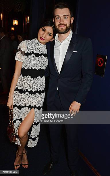 Gemma Chan and Jack Whitehall attend British Vogue's Centenary birthday party at Tramp on May 23 2016 in London England