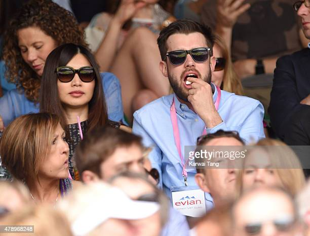 Gemma Chan and Jack Whitehall attend day one of the Wimbledon Tennis Championships on June 29 2015 in London England