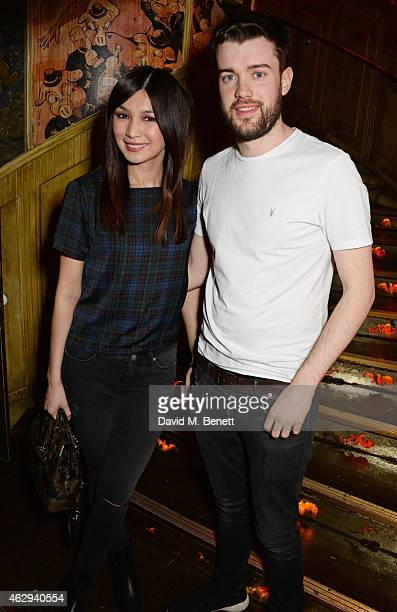Gemma Chan and Jack Whitehall attend The Box 4th Birthday Party in partnership with Belvedere Vodka at The Box on February 7 2015 in London England
