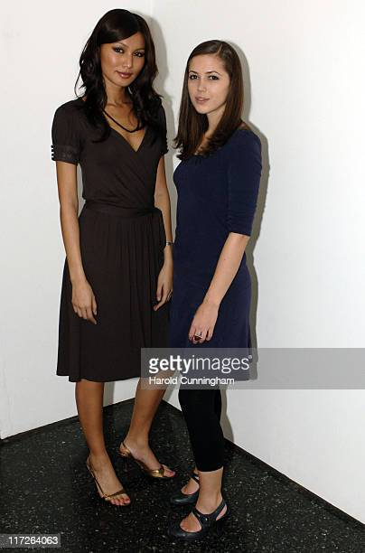 Gemma Chan and Rebecca Pitkin during Zone Horror's When Evil Calls Halloween Launch - October 31, 2006 at Institute of Contemporary Arts in London,...