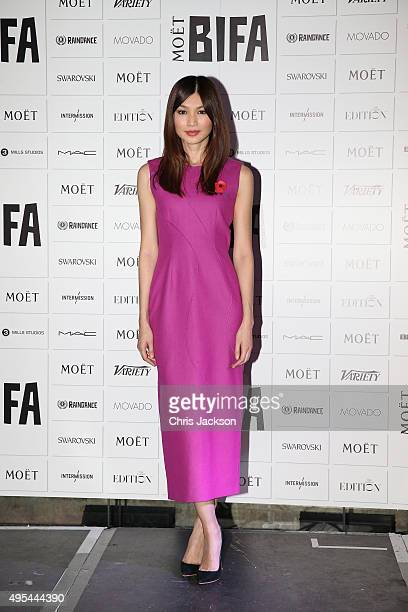 Gemma Chan announces the The Moet British Independent Film Awards at The London Edition Hotel on on November 3 2015 in London England