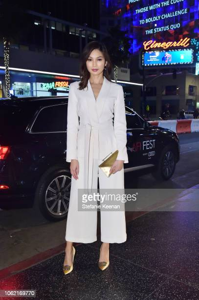 Gemma Chan arrives at AFI FEST 2018 for the World Premiere of 'Mary Queen of Scots' presented by Audi on November 15 2018 in Hollywood California
