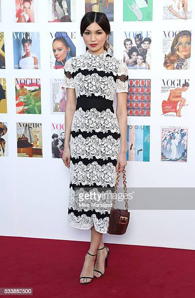Gemma Chan arrives for the Gala to celebrate the Vogue 100 Festival Kensington Gardens on May 23 2016 in London England
