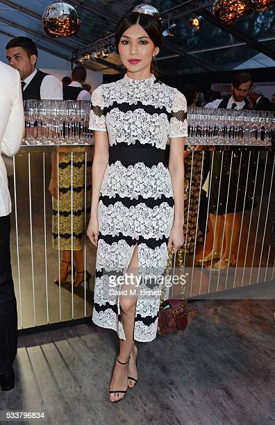 Gemma Chan attends British Vogue's Centenary gala dinner at Kensington Gardens on May 23 2016 in London England