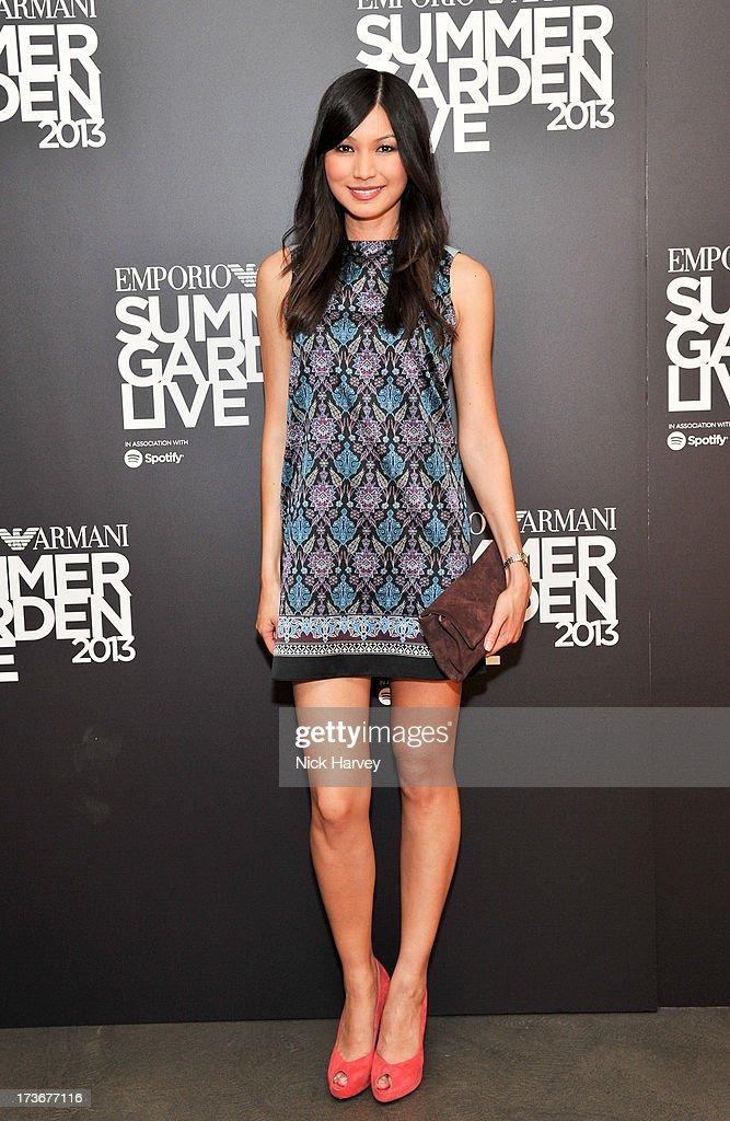 3f47f4c1797 Gemma Chan attends Emporio Armani s Summer Garden Live 2013 on July ...