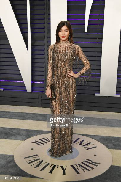Gemma Chan attends the 2019 Vanity Fair Oscar Party hosted by Radhika Jones at Wallis Annenberg Center for the Performing Arts on February 24 2019 in...