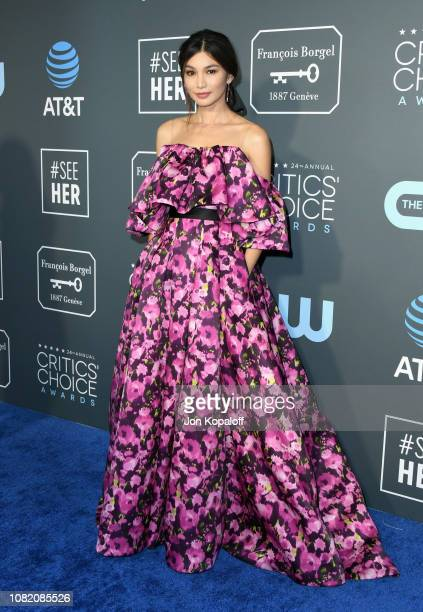 Gemma Chan attends the 24th annual Critics' Choice Awards at Barker Hangar on January 13 2019 in Santa Monica California