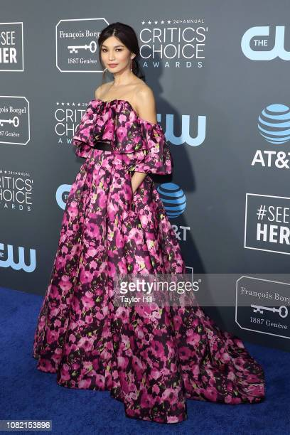 Gemma Chan attends The 24th Annual Critics' Choice Awards at Barker Hangar on January 13 2019 in Santa Monica California