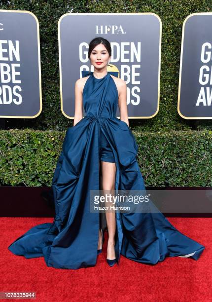 Gemma Chan attends the 76th Annual Golden Globe Awards at The Beverly Hilton Hotel on January 6, 2019 in Beverly Hills, California.