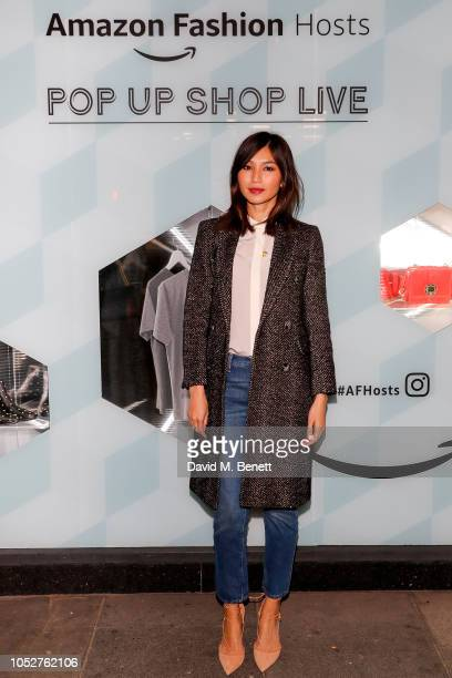 Gemma Chan attends the Amazon Fashion popup launch event on October 22 2018 in London England