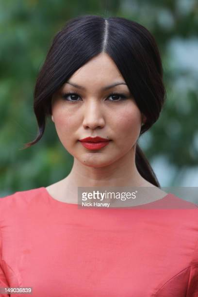 Gemma Chan attends the Audi International polo at Guards Polo Club on July 22, 2012 in Egham, England.