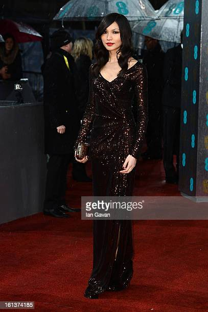Gemma Chan attends the EE British Academy Film Awards at The Royal Opera House on February 10 2013 in London England