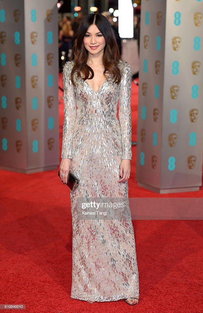 Gemma Chan attends the EE British Academy Film Awards at The Royal Opera House on February 14, 2016 in London, England.