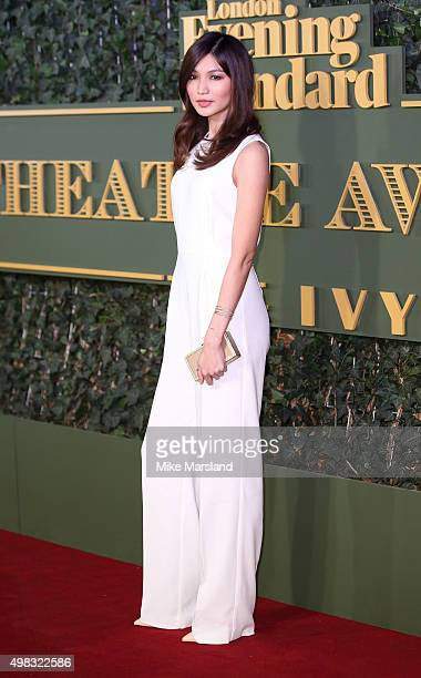Gemma Chan attends the Evening Standard Theatre Awards at The Old Vic Theatre on November 22 2015 in London England