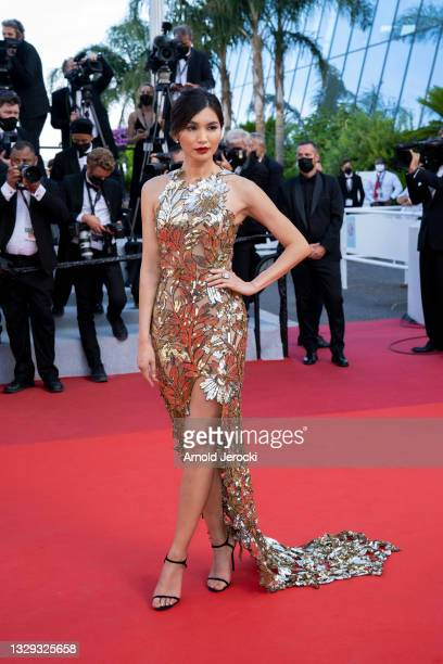 """Gemma Chan attends the final screening of """"OSS 117: From Africa With Love"""" and closing ceremony during the 74th annual Cannes Film Festival on July..."""