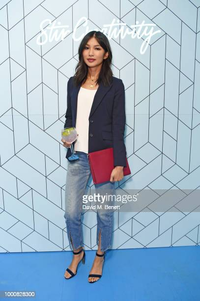 Gemma Chan attends the launch of Bombay Sapphire's 'Canvas' a destination designed to stir creativity and inspire creative selfexpression in...