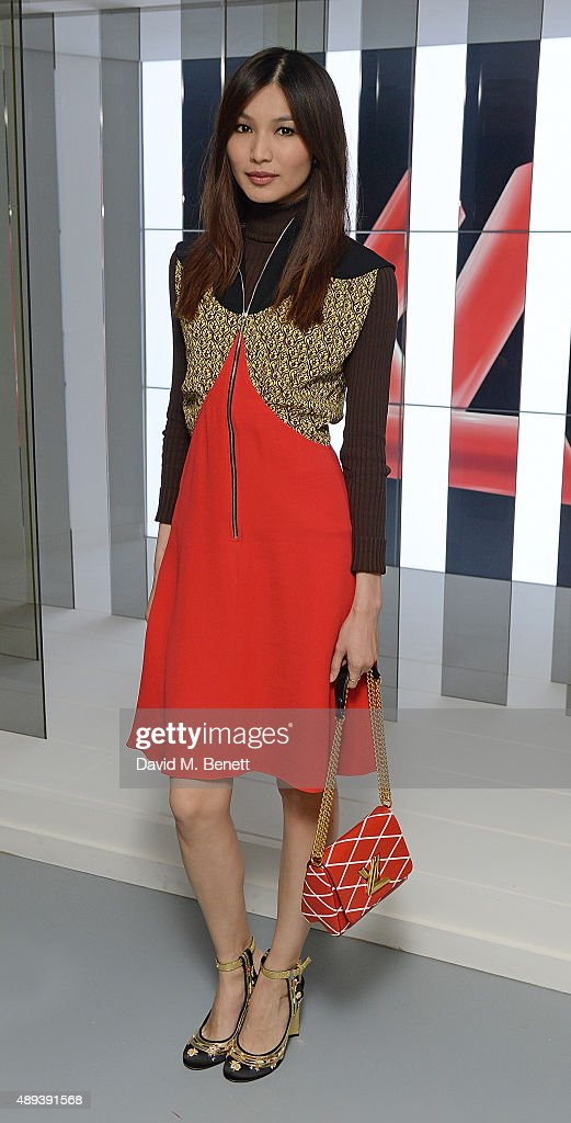 Gemma Chan attends the Louis Vuitton Series 3 VIP launch during London Fashion Week SS16 on September 20, 2015 in London, England.