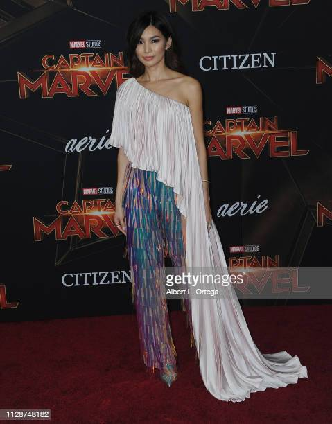 Gemma Chan attends the Marvel Studios Captain Marvel Premiere held on March 4 2019 in Hollywood California