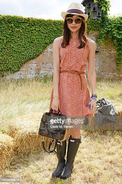 Gemma Chan attends The Mulberry Wilderness Picnic with Cara Delevingne during Wilderness 2014 at Cornbury Park on August 9 2014 in Oxford England