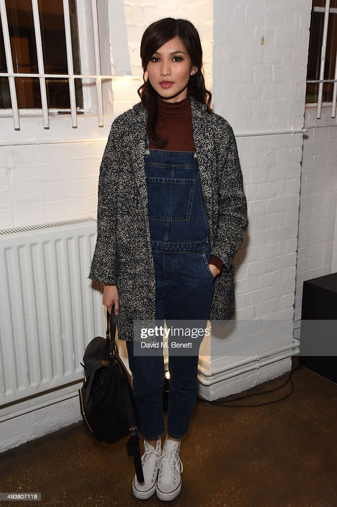 Gemma Chan attends Whistles Men 1st birthday celebrations at Protein Galleries on October 22, 2015 in London, England.