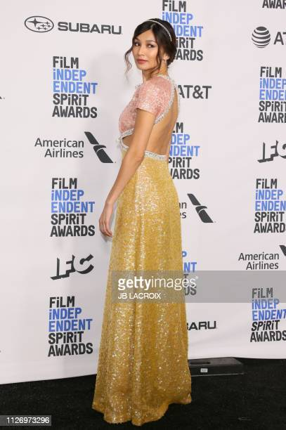 Gemma Chan poses in the press room during the 2019 Film Independent Spirit Awards in Santa Monica California on February 23 2019