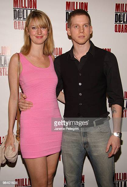 Gemma Clark and Stark Sands attends the opening of Million Dollar Quartet at Nederlander Theatre on April 11 2010 in New York City