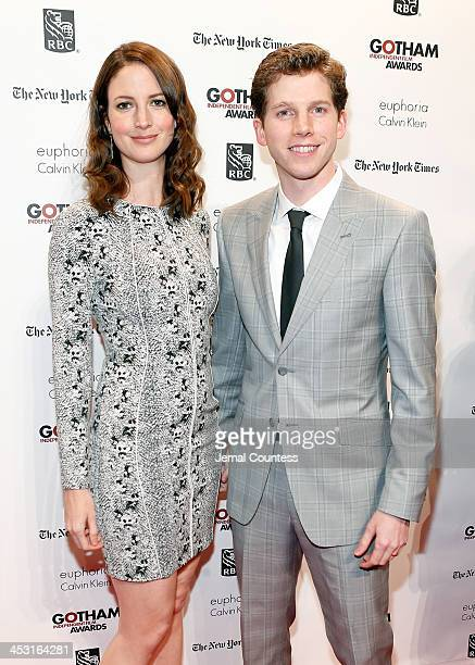 Gemma Clarke and Actor Stark Sands attend IFP's 23nd Annual Gotham Independent Film Awards at Cipriani Wall Street on December 2 2013 in New York City