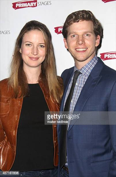 Gemma Clarke and Stark Sands attend the After Party for the OffBroadway Opening Night of The new Primary Stages production of 'WHILE I YET LIVE' by...