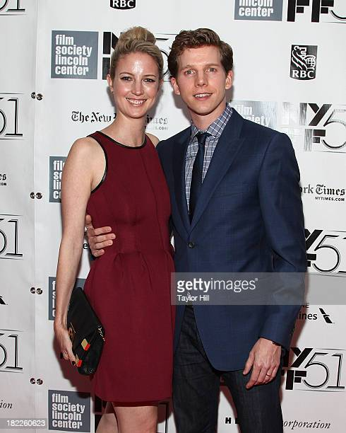 Gemma Clarke and Stark Sands attend the Inside Lleywn Davis permiere during the 51st New York Film Festival at Alice Tully Hall at Lincoln Center on...