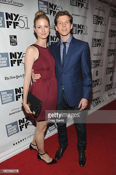 Gemma Clarke and Stark Sands attend the Inside Lleywn Davis premiere during the 51st New York Film Festival at Alice Tully Hall at Lincoln Center on...