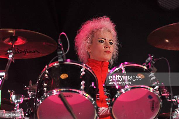 Gemma Clarke of Adam The Ants performs on stage during the second day of Latitude Festival 2011 at Henham Park Estate on July 16 2011 in Southwold...