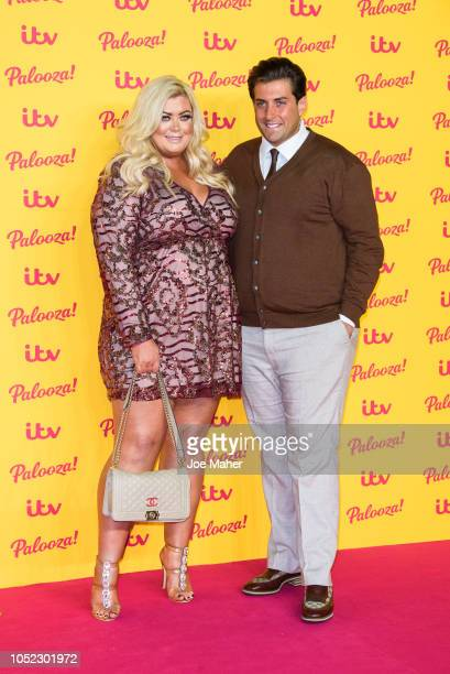 Gemma Collins ad James Argent attend the ITV Palooza held at The Royal Festival Hall on October 16 2018 in London England