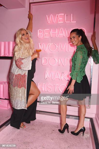 Gemma Collins and guest attend the cocktail launch party to celebrate the Gemma Collins X Boohoo Collection at Tonight Josephine on May 23 2018 in...