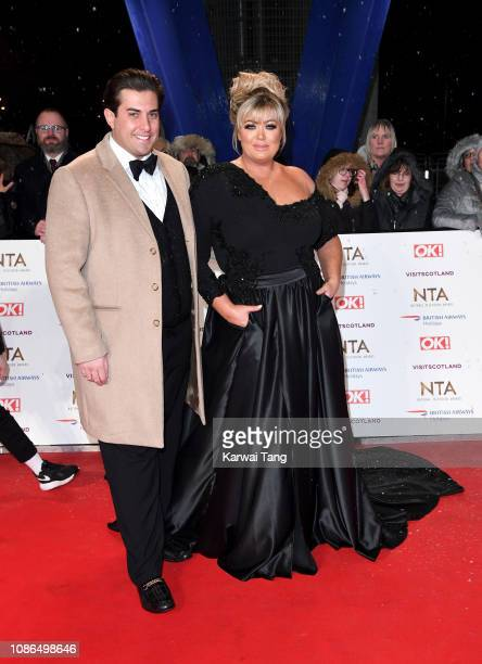 Gemma Collins and James Argent attend the National Television Awards held at The O2 Arena on January 22 2019 in London England