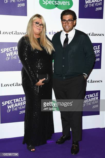 Gemma Collins and James Argent attend the Specsavers 'Spectacle Wearer Of The Year' at 8 Northumberland Avenue on October 24 2018 in London United...