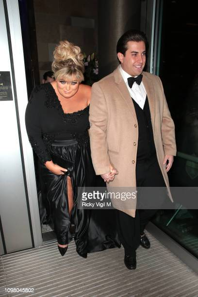 Gemma Collins and James Argent seen attending National Television Awards at The O2 on January 22 2019 in London England
