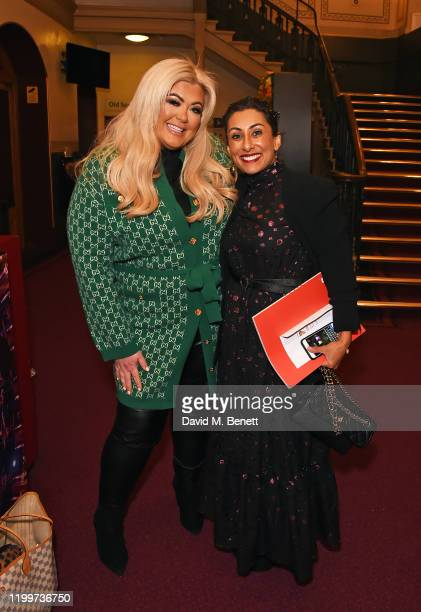 Gemma Collins and Saira Khan arrive at the gala performance of Cirque De Soleil's LUIZA at The Royal Albert Hall on January 15 2020 in London England