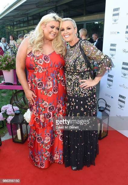 Gemma Collins and Tessa Hartman CBE attend the 2nd annual Jersey Style Awards in association with Bentley Motors Chopard and Ortac Aviation to...