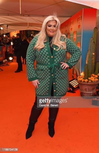 Gemma Collins arrives at the gala performance of Cirque De Soleil's LUIZA at The Royal Albert Hall on January 15 2020 in London England